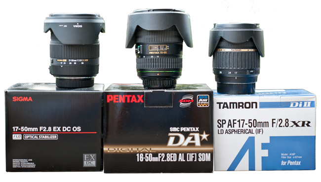 Sigma 17-50mm vs Tamron 17-50mm vs Pentax DA* 16-50mm F2.8